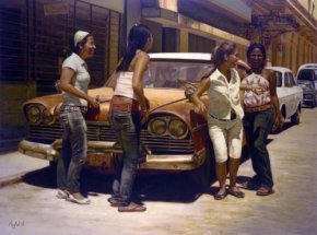 Havana Gathering a limited edition print by Maykel Herrera