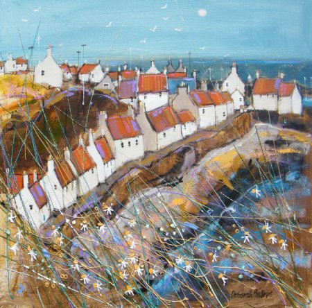 Buy Sunny West Shore Pittenweem - art print by artist Deborah Phillips