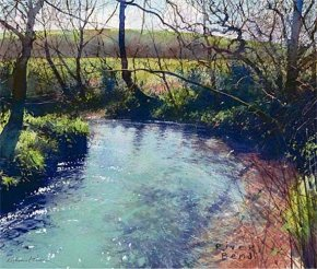 River Bend a limited edition print by Richard Thorn
