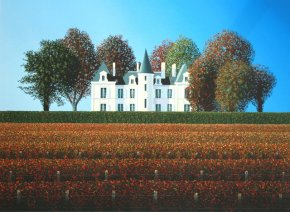 Pichon Lalande, Autumn a limited edition print by Michael Kidd