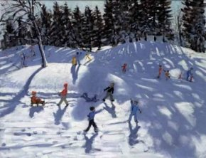 Winter Fun a limited edition print by Andrew Macara