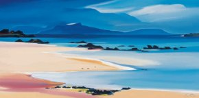 Eigg from Kilmory a limited edition print by Pam Carter