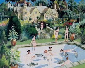 Bathers a limited edition print by Richard Adams