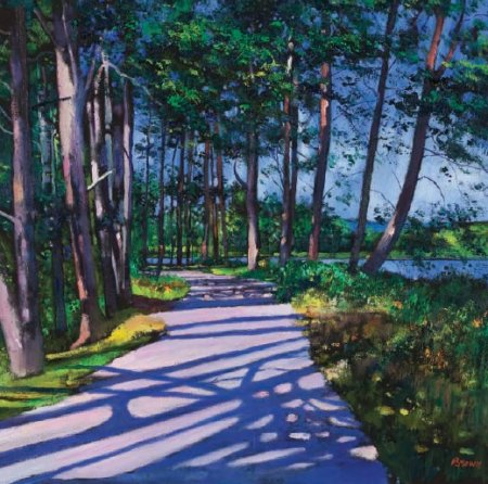 Buy Avenue of Pines - art print by artist Davy Brown