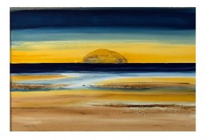 Ailsa Craig a limited edition print by Dorothy Bruce