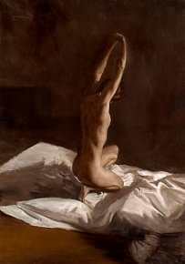 Stretching Nude a limited edition print by David Knight