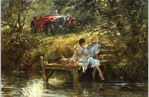 A Secret Place a limited edition print by Alan Fearnley