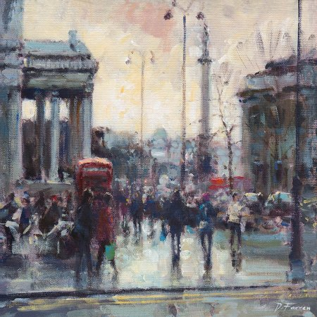 Buy Towards Trafalgar Square, London - art print by artist David Farren
