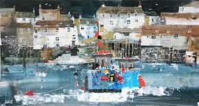 Fishermen's Cottages, Polperro a limited edition print by Nagib Karsan