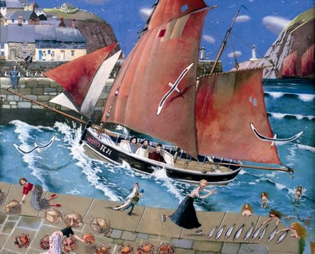 Buy The Cornish Harbour - art print by artist Richard Adams