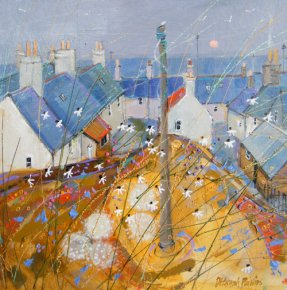 Portsoy Daisies a limited edition print by Deborah Phillips