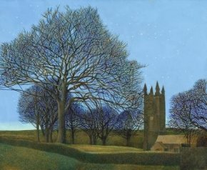 St Cleer Church, Early Evening a limited edition print by Annie Ovenden