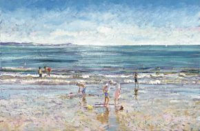 A Day at the Beach (canvas) a limited edition print by Timmy Mallett