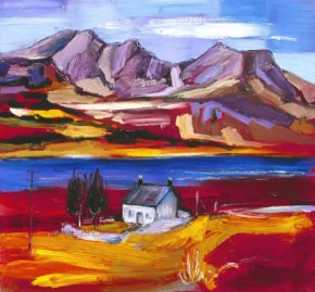 Cottage at Loch Slapin, Skye a limited edition print by Judith Bridgland