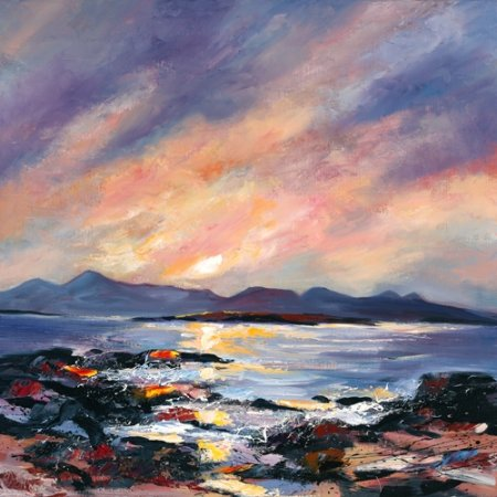 Buy Sunset over Skye - art print by artist Dronma