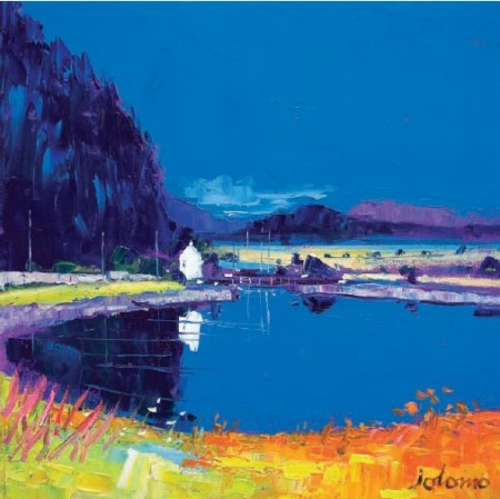 Buy Dunardry Reflections Crinan Canal - art print by artist John Lowrie Morrison
