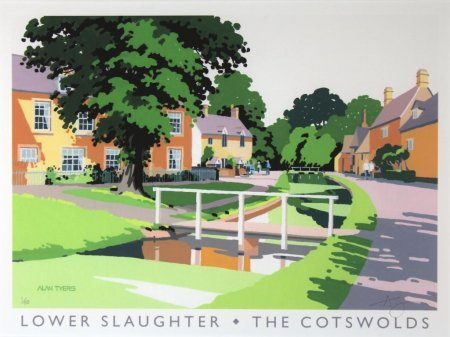 Buy Lower Slaughter - art print by artist Alan Tyers