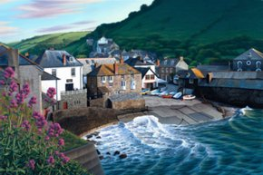 Late Sun, Port Isaac a limited edition print by Brett Humphries