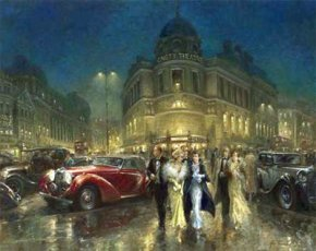 After the Show a limited edition print by Alan Fearnley