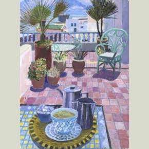 Terrace, Essaouira - Morocco a limited edition print by Paul Manousso