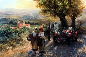 Tuscan Evening a limited edition print by Alan Fearnley