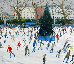 Skating a limited edition print by Andrew Macara