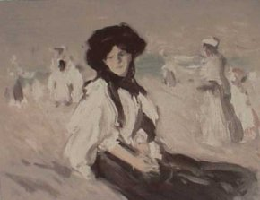 Paris Plage, 1907 a limited edition print by John Duncan Fergusson