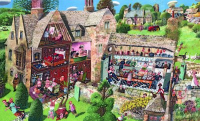 Dolls House - Limited edition print and art print by Richard Adams