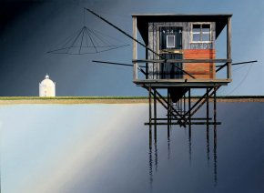 Fishing Pier on the Gironde a limited edition print by Michael Kidd
