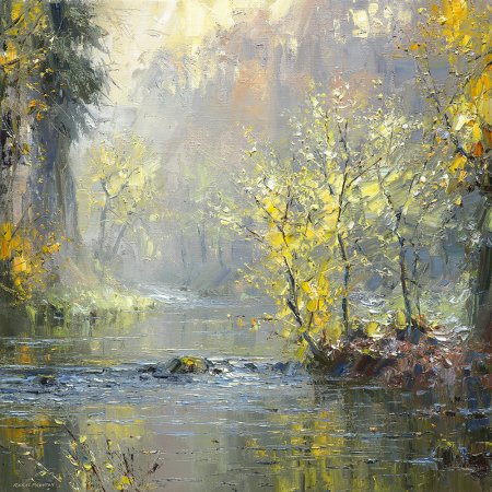Buy Autumn River - art print by artist Rex Preston