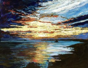 Shoreline Sunset (canvas) a limited edition print by Timmy Mallett