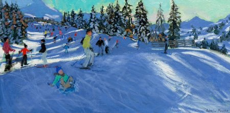 Buy On The Slopes - art print by artist Andrew Macara
