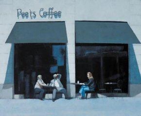 Coffee Break, Montanna Avenue a limited edition print by Peter Nardini