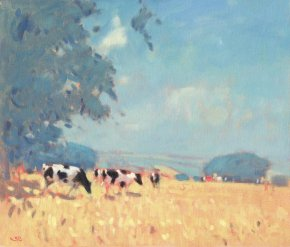 Cows High Summer a limited edition print by Stephen Brown