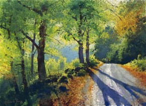 Autumn Walk a limited edition print by Richard Thorn
