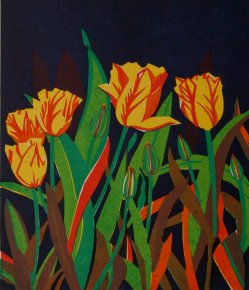 Tulips a limited edition print by Linda Richardson