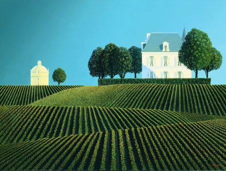 Buy Chateau Latour and Dovecote - art print by artist Michael Kidd