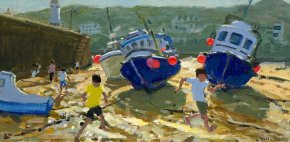 Kids and Boats a limited edition print by Andrew Macara