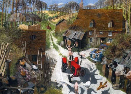 Buy The Farmers Wife - art print by artist Richard Adams
