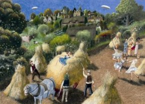Among The Sheaves a limited edition print by Richard Adams
