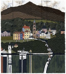 Portmeirion a limited edition print by David Day
