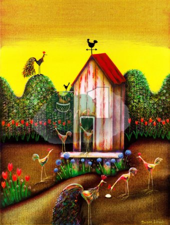 Buy What Came First? - art print by artist Susan Lincoln