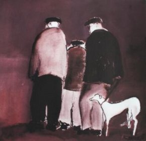 Billy Liddle's Whippet a limited edition print by Malcolm Teasdale