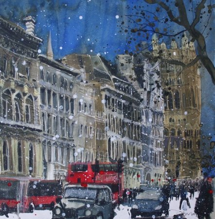 Buy Winter Day, Parliament, London - art print by artist Susan Brown