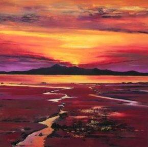 Fading Sun, Arran a limited edition print by Davy Brown