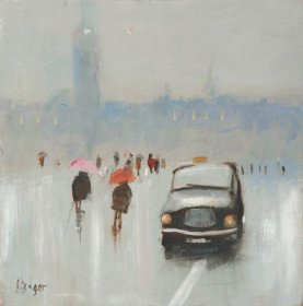 Brolly DayLimited edition prints and art prints by Janet Ledger