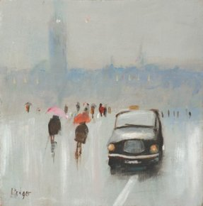 Brolly Day a limited edition print by Janet Ledger