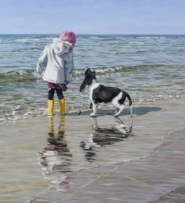 Paddling a limited edition print by Jim Farrant