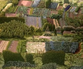 Allotments a limited edition print by David Inshaw