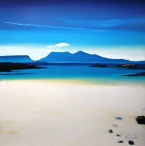 View to Rhum a limited edition print by Pam Carter